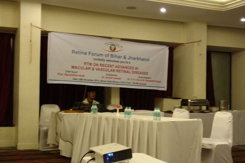Dr Somdutt Prasad as the Guest Speaker in the Bihar Retina Forum Meet