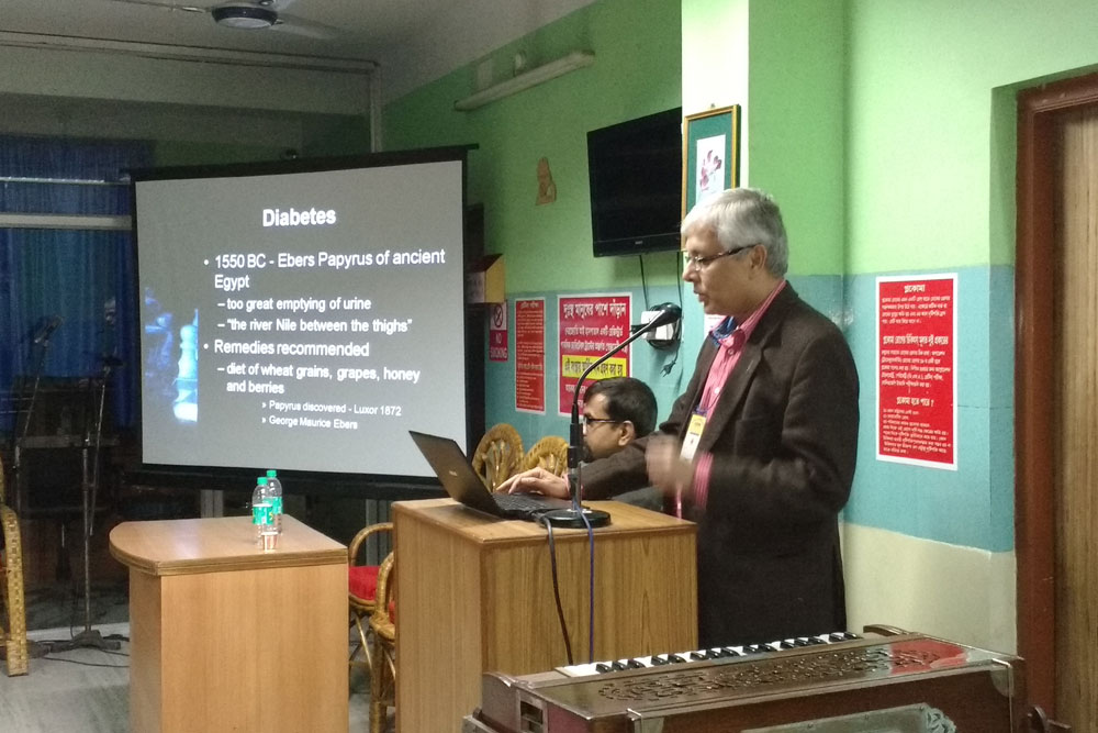 Dr Somdutt Prasad sharing his inputs on Diabetic Retinopathy