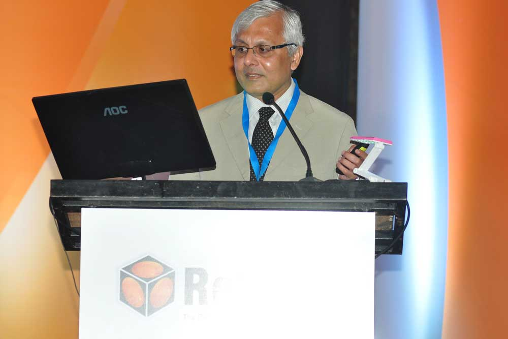 Dr Somdutt Prasad speaking at Reticon 2016