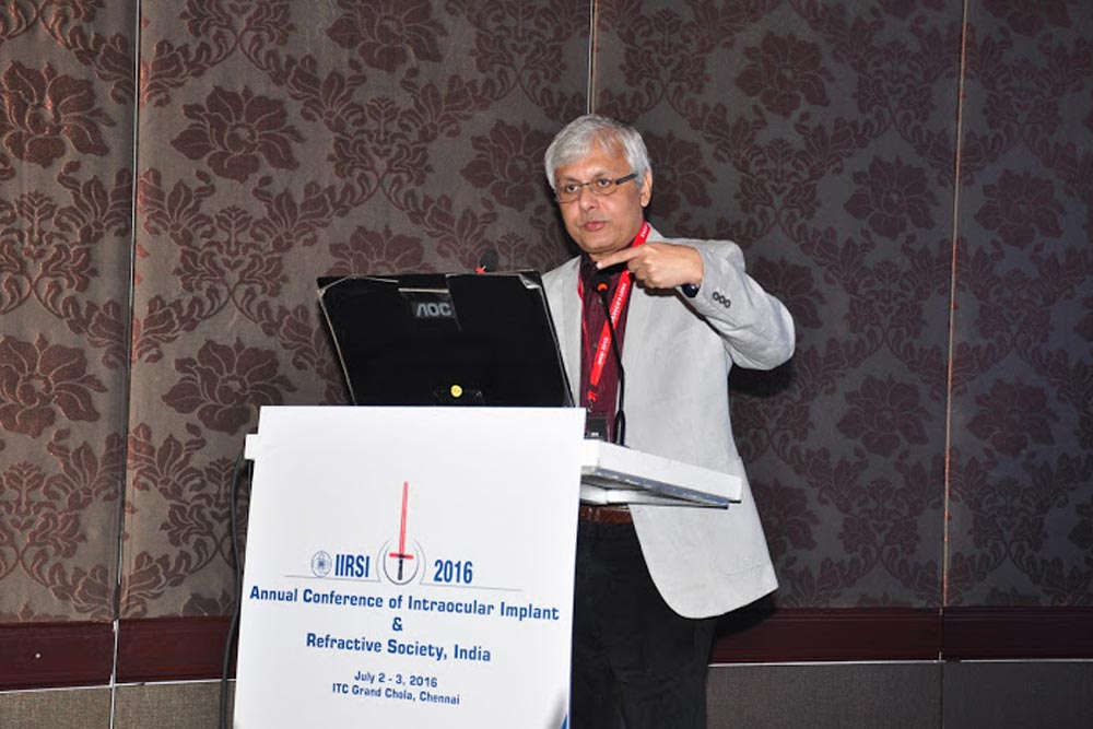 Dr Somdutt Prasad was one of the distinguished speakers at the IIRSI 2016 Event