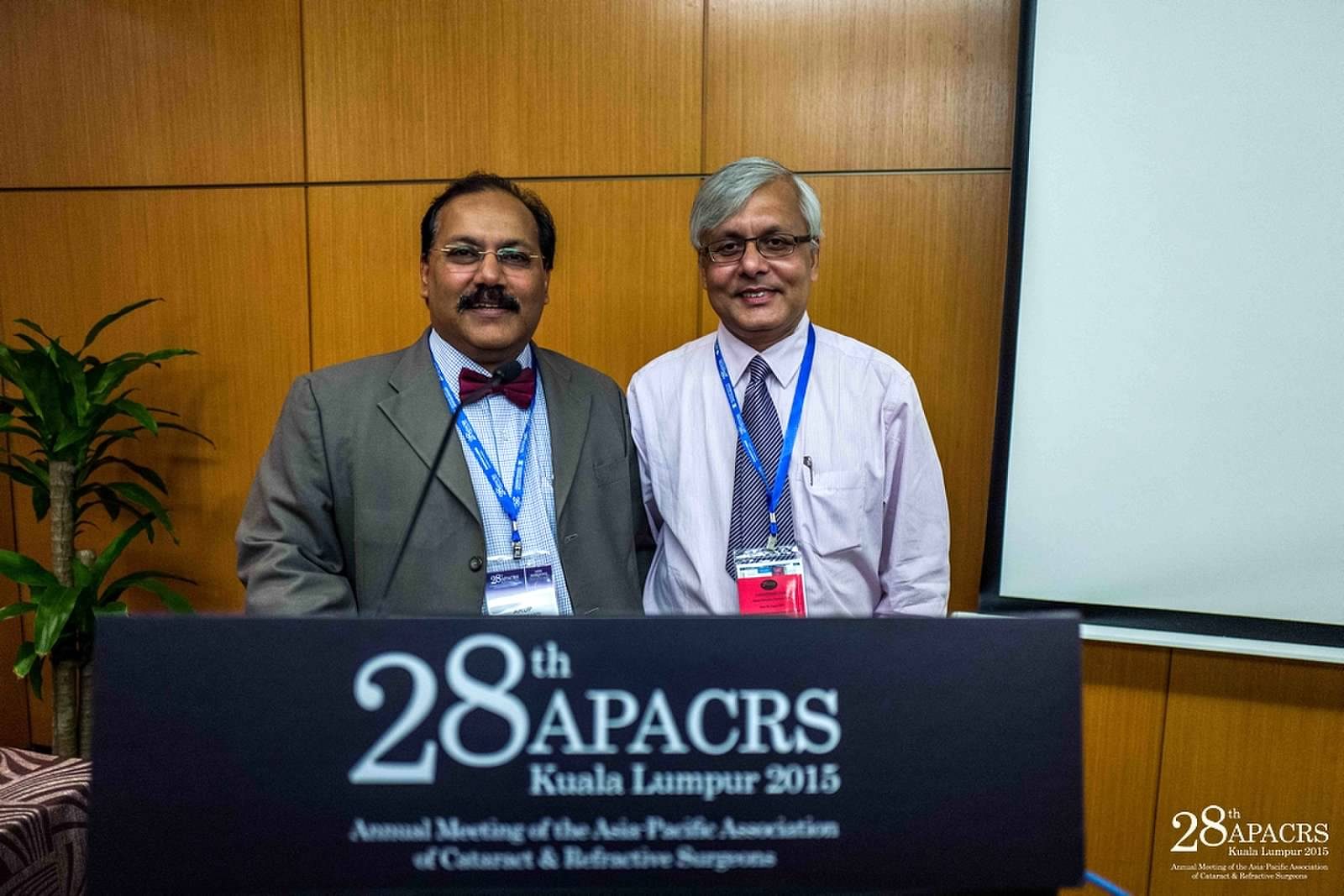 Dr Somdutt Prasad at the APACRS conference in Kuala Lumpur, Malaysia