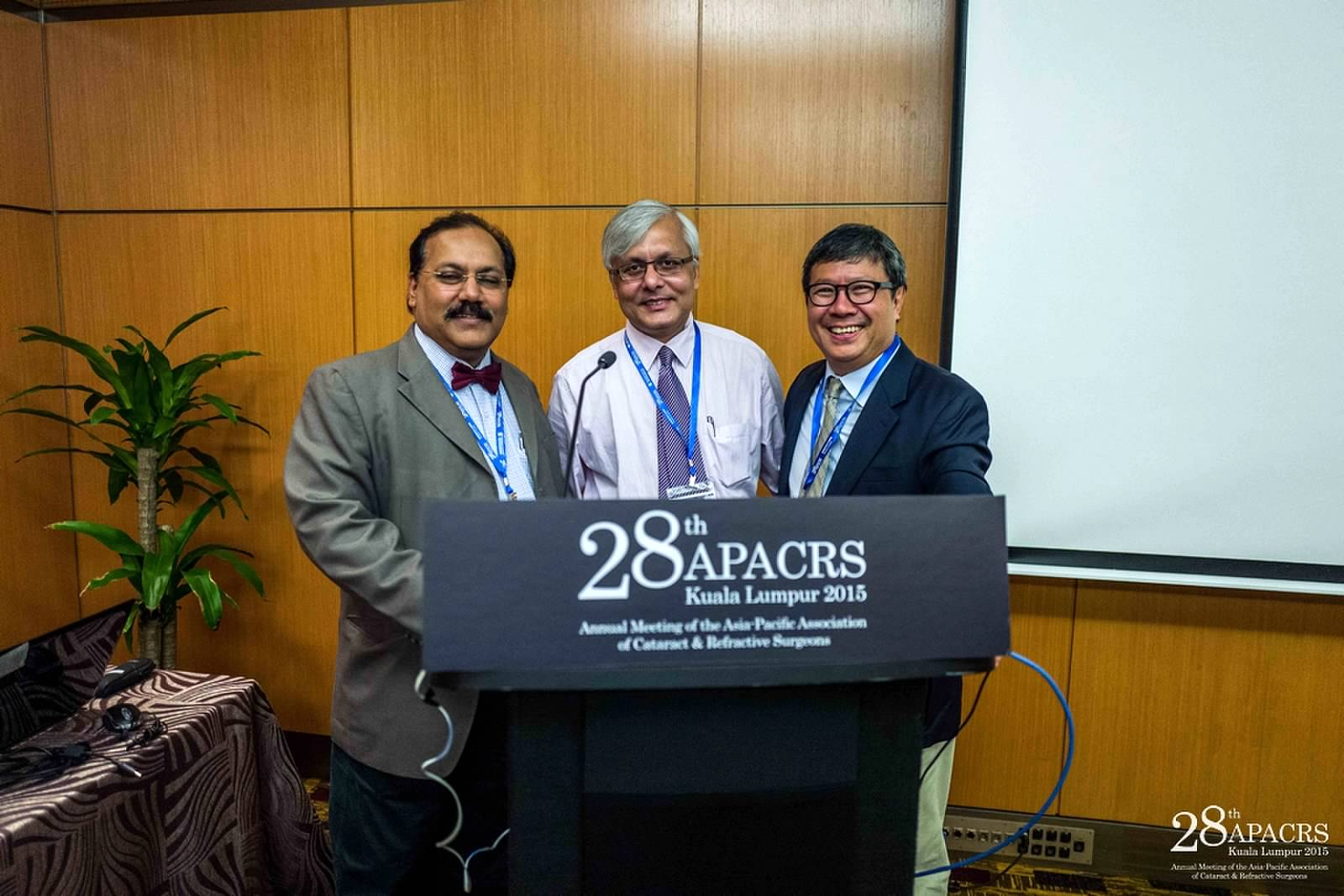 Dr Somdutt Prasad with other guests at the APACRS conference in Kuala Lumpur, Malaysia