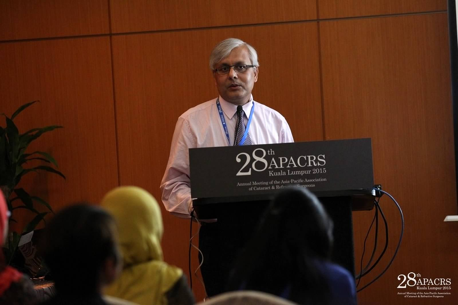 Dr Somdutt Prasad speaking at the APACRS conference in Kuala Lumpur