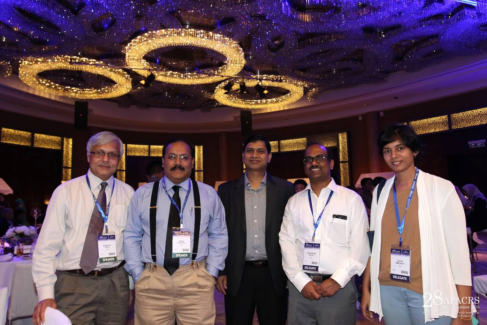 Dr Somdutt Prasad with other speakers at the APACRS conference in Kuala Lumpur